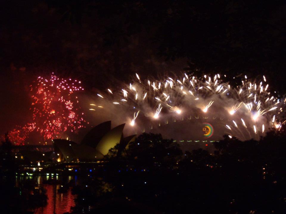 Seničan v Austrálii-ohňostroj