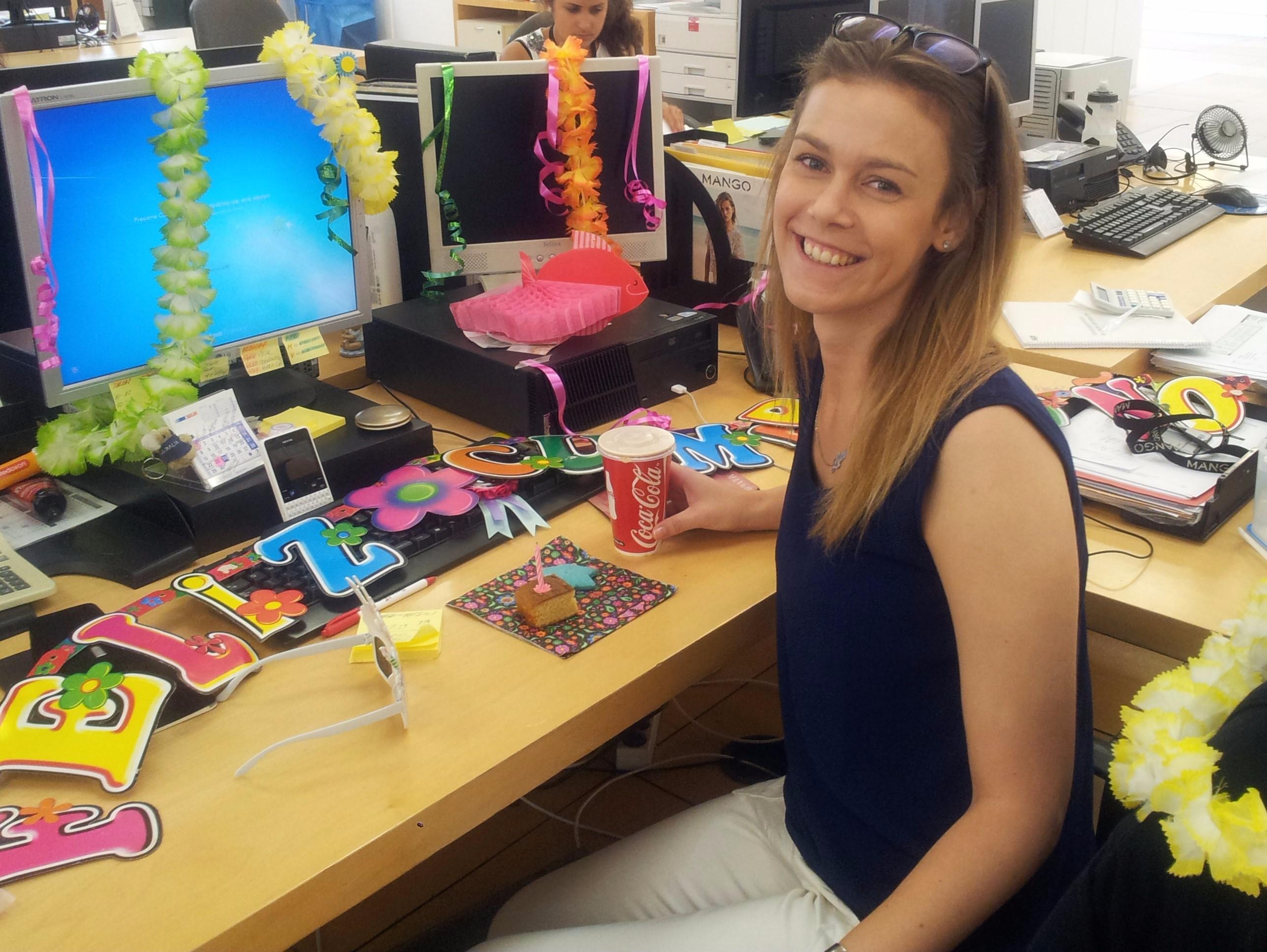 Senicanka Lucia v praci