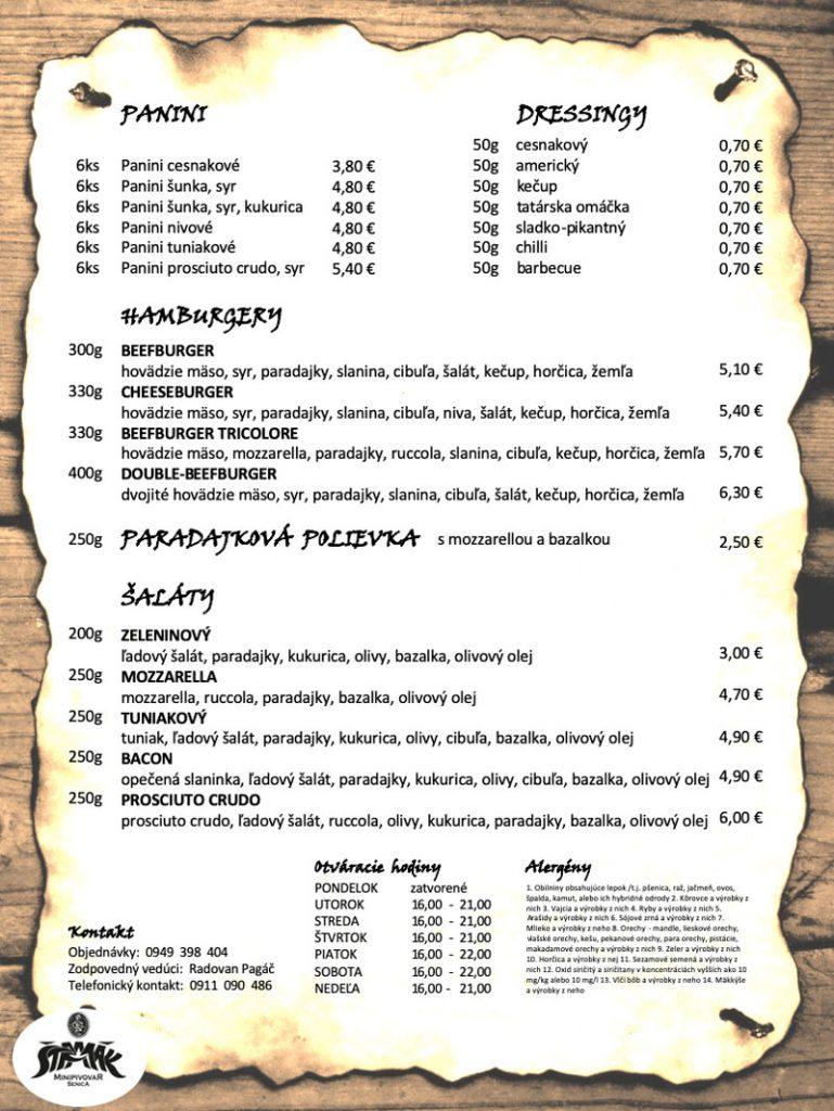 Pizzeria Stramak najlepsia Pizza v meste Menu