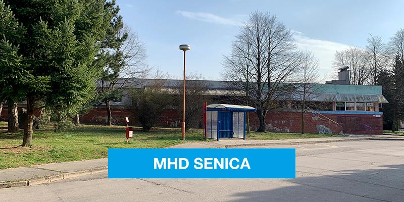 Zastávka MHD v Senici na Lipovej ulici