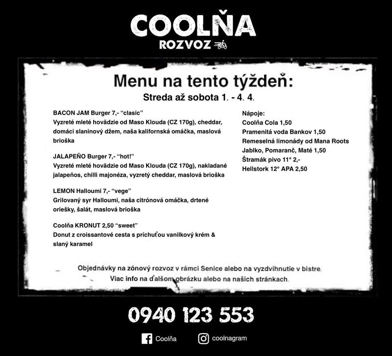 Coolna Menu na aktualny tyzden
